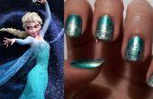 Disney est gelé : Nails Elsa-Inspired