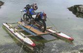 Les péniches de débarquement pour une moto
