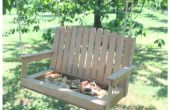 Faire une mangeoire à oiseaux Bench Swing