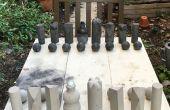 Chess set pour l'extérieur en béton