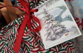 Faire recyclé cadeau Tags de vacances cartes anciennes