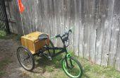 Tricycle électrique avec frontal de bmx.