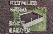 Recyclé bois boîte de jardin