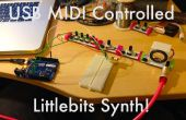 USB MIDI Littlebits synthé !