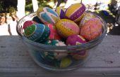 Pour toujours les oeufs de Pâques, deux manières