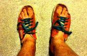 DIY Slip sur sandales de vieilles chaussures