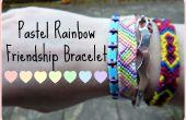 Bracelet d'amitié arc-en-ciel pastel