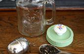 Tasse à thé Mason Jar avec construit dans la boule à thé