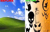 Faire votre propre Halloween sur le thème de bureau fond