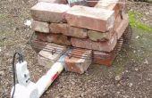 Séchoir et rouge brique aluminium Forge