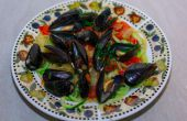 Pâtes de fruits de mer délicieux, remplissage, & sains
