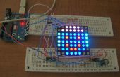 Arduino alimenté par trois couleur 8 x 8 Led Array