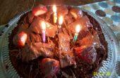 Couches de gâteau au chocolat