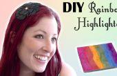 Rainbow bricolage surligneur inspirée prisme surligneur de la belle dentelle amer
