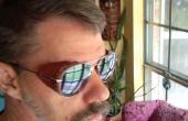 Coques latérales de cuir pour lunettes de soleil