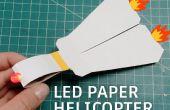Hélicoptère de papier LED