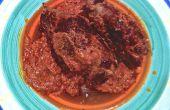 Braciole... bourré de bavette de boeuf dans une sauce crème/tomate
