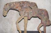 Le cast de type bronze deterioreted