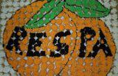 Peinture murale de Cupcake orange