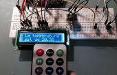 Écran LCD de la température en C ou F en choisissant le type avec une télécommande IR