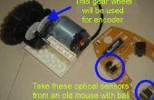 Réducteur avec encodeur optique sur un pignon