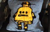 Tricotés coussin Robot