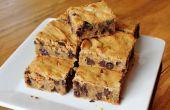 Barres de biscuit sans farine paresseux