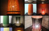 Lampe d'ambiance élégante de couleur interchangeables. À l'aide de tapis de salle à manger, très facile à faire.