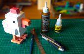 Crossy route poulet fait avec Papercraft