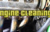 Nettoyage de la saleté se trouvant sur mon moteur.