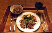 EXEMPT de soja, sans GLUTEN, STEAK TERIYAKI avec des patates douces et courgettes