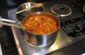Curry rouge de poulet et de légumes