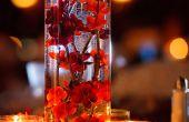 Pièces maîtresses de la fleur artificielle, simple, élégant mariage