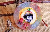 Pixie Poker Chip pendentif de fleurs