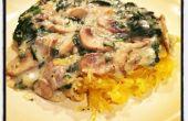 Vegan crémeux aux champignons épinards Sauce