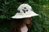 Chapeau de soleil convertible fabriqué à partir des bandes de tissu