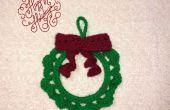 Ornement de Noël guirlande au Crochet