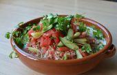 Salade de melon d'eau avec Ajo Blanco (Gaspacho blanc espagnol) et Kombucha
