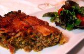 Paradis de la Light(A Savory Meatloaf Pie topped with a Bacon Lattice) four