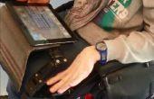 Fauteuil roulant plateau bras smartphone tablette