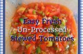 Facile tomates fraîches de compote de Un-Processed