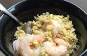 Un Pot de crevettes et riz frit en 20 minutes