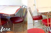 Chaises de cuisine Retro vinyle de finition