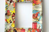 Cadres de photo de découpage à l'aide de bandes dessinées