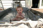 Piscine pour enfants de 30 minutes de ferraille pvc et une bâche