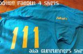 Bootleg Fallout 4 T-Shirts avec un plotter de découpe. chemises de coureur aka gun