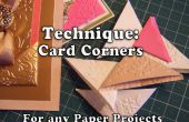Technique : Comment faire des coins de la carte pour vos projets de papier