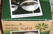 Lampe solaire à bas prix démonté et réorientés... genre éteint.