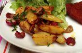 Rôti de radis & cales de pomme de terre servis avec une ciboulette fraîche s'habiller