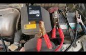 Saut de démarrer votre voiture à l'aide de petites conduire batterie d'acide de (Alternative bon marché aux Jumpstarter de Li-ion)